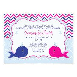 Whale Gender Reveal Baby Shower
