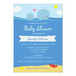 Whales Under the Sea  / Sprinkle Invite