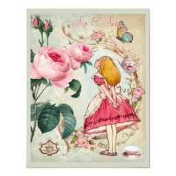 Whimsical Alice in Wonderland Collage Sip & See