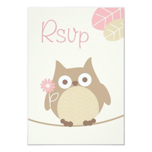 Whimsical Girl Owl  Rsvp