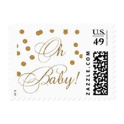 white and gold glitter  stamps