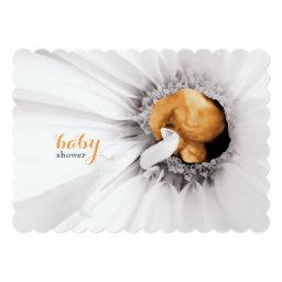 White Daisy Ultrasound  Invite