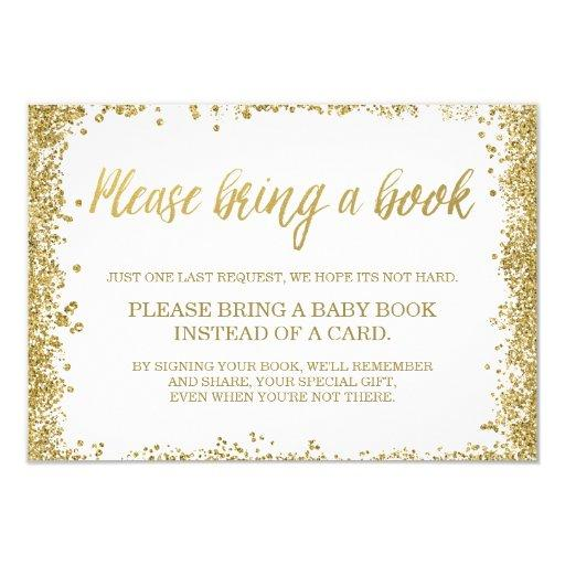 White Gold Faux Glitter  Book