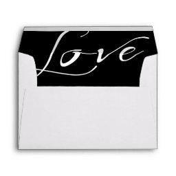 White  Envelope with a White Love Liner