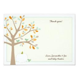 White pumpkin fall  thank you notes