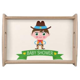 Wild West Cowboy Theme Baby Shower Serving Tray