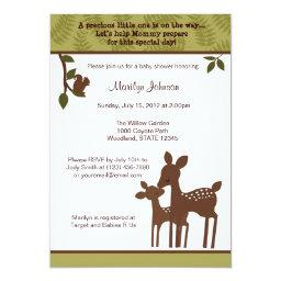 Willow Deer Baby Shower  forest woodland