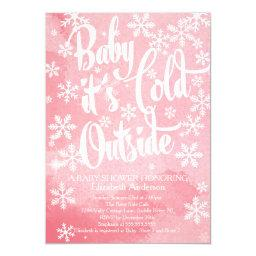 Winter Baby It's Cold Outside Girls Baby Shower