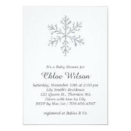 Winter Crystal Snowflake Baby Shower