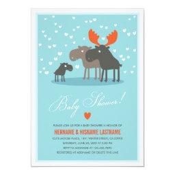 Winter Deer Family Couples Baby Shower