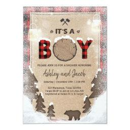 Winter Lumberjack Baby Shower Rustic boy Plaid