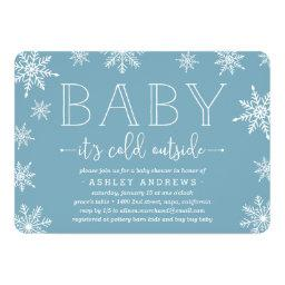 Winter Snowfall Baby Shower  | Blue