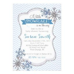 Winter Snowflake Baby Shower invitation