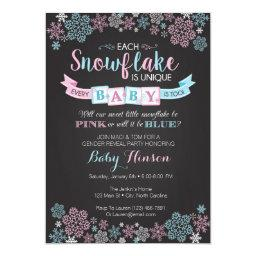 Winter Snowflake Gender Reveal Party