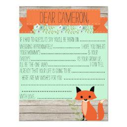 Wishes for baby - Fox theme