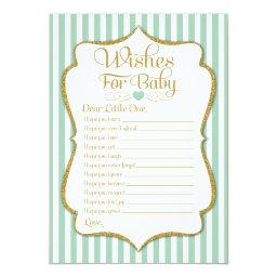 Wishes For Baby Mint Green  Game