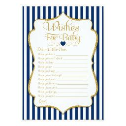 Wishes For Baby Navy Blue Gold Baby Shower Game