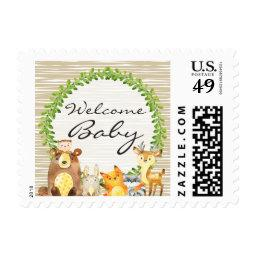 Woodland Animals Baby Shower Postage