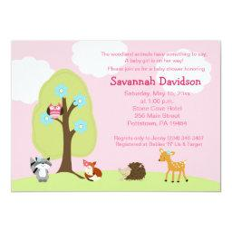 Woodland Animals Girl Baby Shower