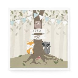 Woodland Baby Shower - Boy Napkin