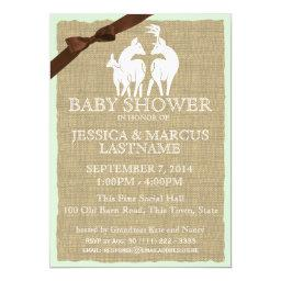 Woodland Baby Shower Deer and Burlap