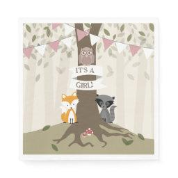 Woodland  - Girl Napkin