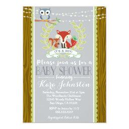 Woodland   Fox Owl Invite