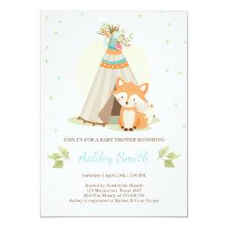 Woodland baby shower  Fox Teepee pow wow