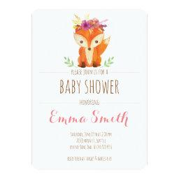 Woodland Baby Shower  Girl
