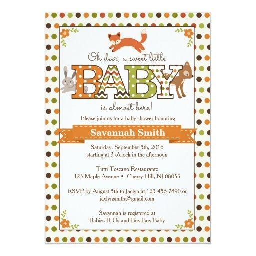 baby shower woodland baby shower invitations woodland animal