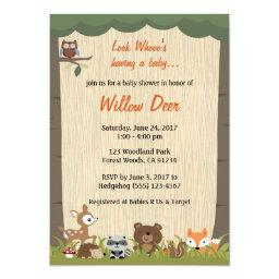 Woodland  Invite *boy/girl/surprise*