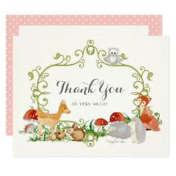 Woodland Fairy Tale Baby Shower Thank You Notes