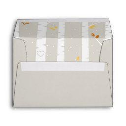 Woodland Fall / Winter Baby Shower matching Envelope