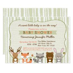 Woodland Forest Animal Baby Shower