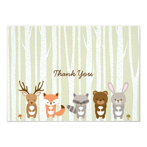 Woodland Forest Animal Baby Shower Thank You