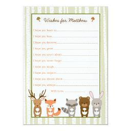 Woodland Forest Animal Wishes for Baby