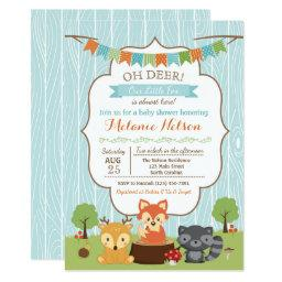 Woodland Fox Baby Shower  Oh Deer