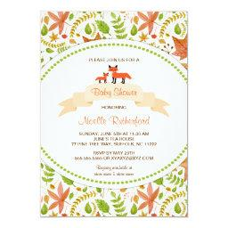 Woodland Fox  Invites / mother and baby