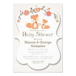 Woodland Fox Floral Baby Shower