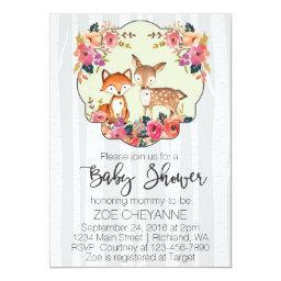 Woodland Nursery Baby Deer and Fox Baby Shower
