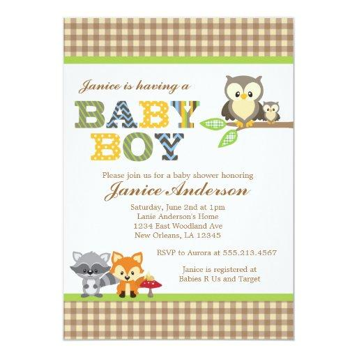 woodland baby shower invitations | babyshowerinvitations4u,