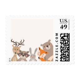 Woodland Postage Stamps  Animals Woods