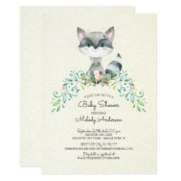 Woodland Raccoon Neutral Baby Shower