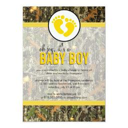 Yellow - Camo Baby Boy Shower