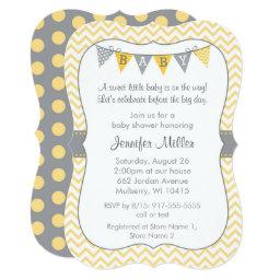 Yellow Chevron Baby Shower Die Cut