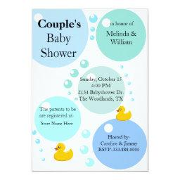 Yellow Duckys and Bubbles Baby Shower