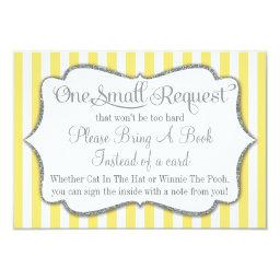 Yellow Gray Baby Shower Book  Bring A Book