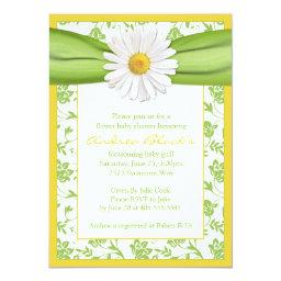Yellow Green Daisy Floral Baby Shower