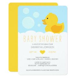 Yellow Rubber Ducky Bubble Bath Baby Shower