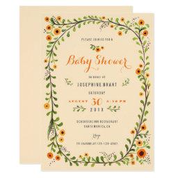 Yellow Sunflowers Floral Baby Shower